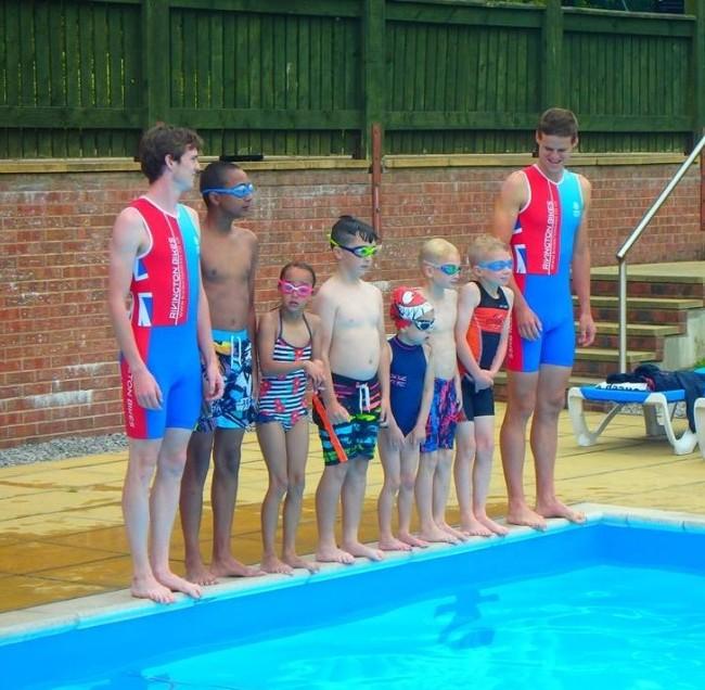 Rosanna Ogden charity sponsored swim participants