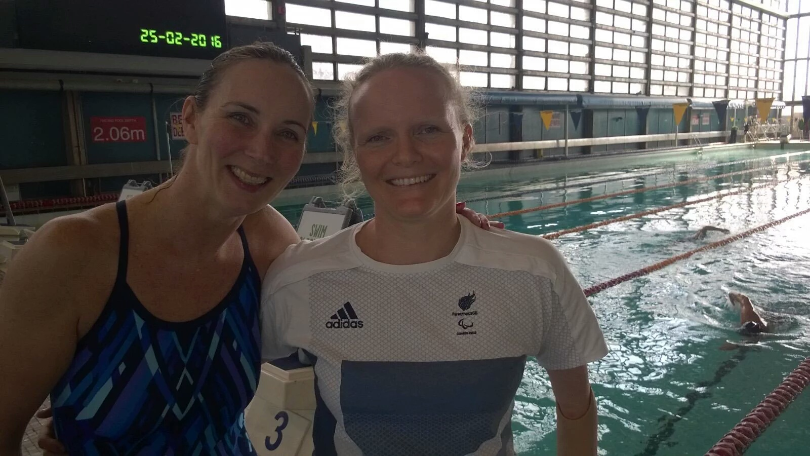 Zoggs' Claire with Team GB Athlete Susan Rodgers