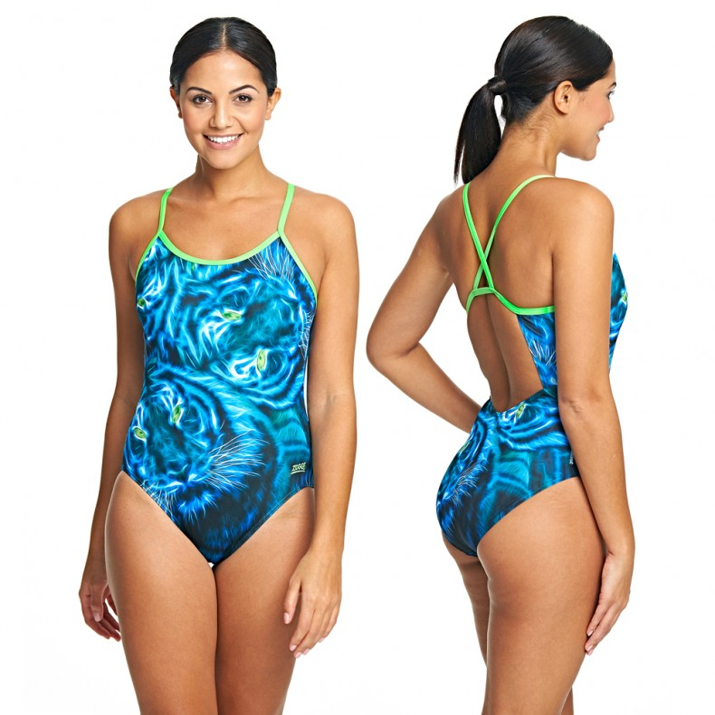 Blue-Feline-Triback-Swimming-Costume