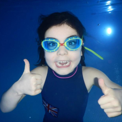Six year-old Rosanna Swims 6 Miles in 6 Days