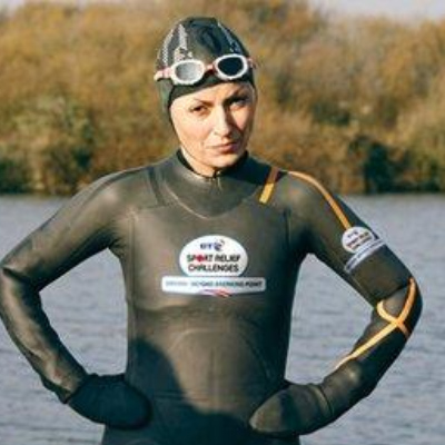 Zoggs helping Davina McCall to see her way through BT Sport Relief Challenges: Davina –Beyond Breaking Point