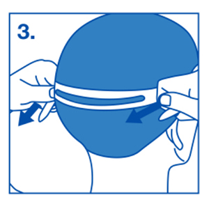Person adjusting strap of the goggle