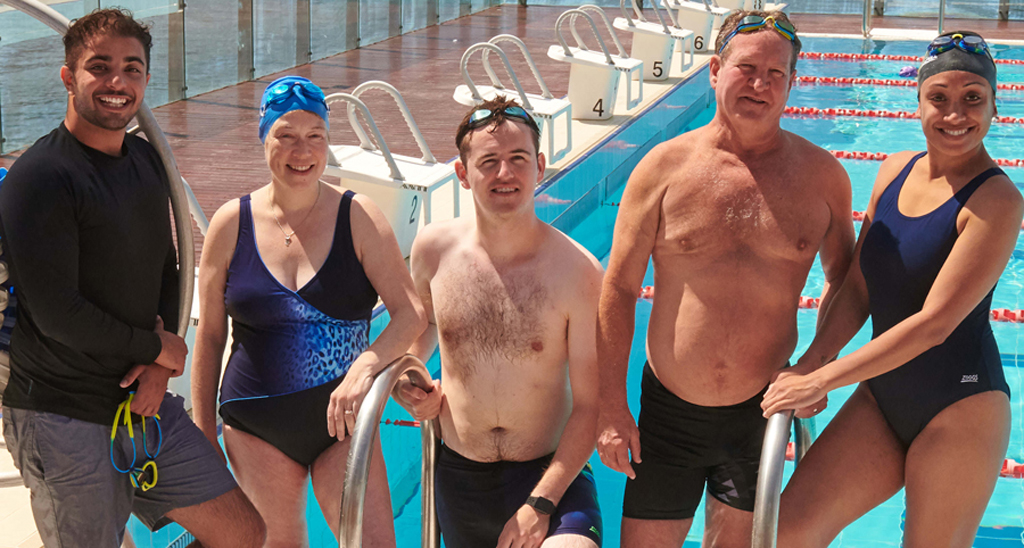 Team From Laps For Life At The Pool