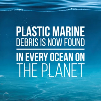 Plastic marine debris is now found in every ocean on the planet