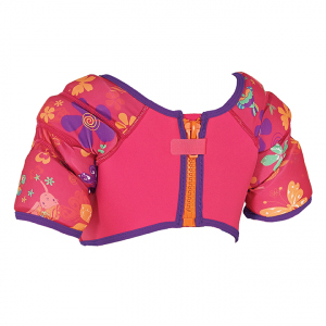 Water Wings Vest pink with flowers